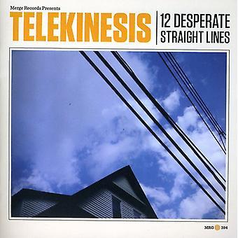 Telekinese - 12 fortvivlede lige linjer [CD] USA importerer