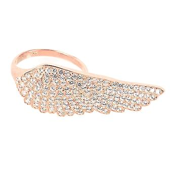 22ct Rose gold Vermeil Large Angel Wing Ring