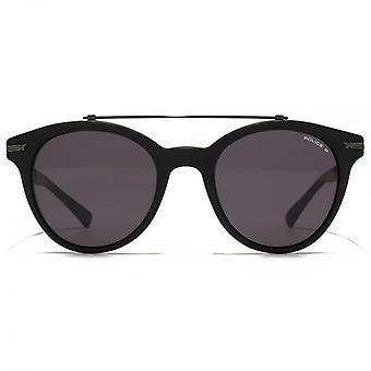 Police Metal Brow Details Sunglasses In Matte Black Polarised