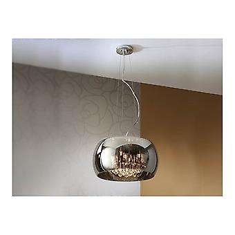 Schuller Smoked Dome Crystal Pendant Ceiling Light