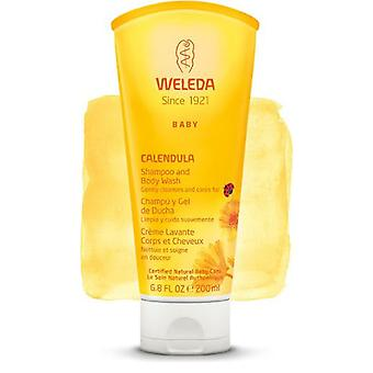 Weleda Shampoo And Shower Gel 200Ml Calendula.