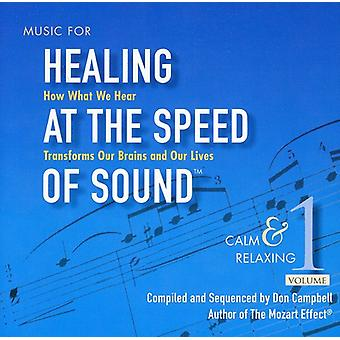 Don Campbell - Don Campbell: Musik til Healing på Speed of Sound, Vol. 1: ro & afslappende [CD] USA import