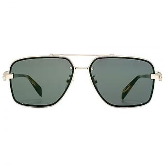 Alexander McQueen Iconic Skull Sunglasses In Gold Green Mirror