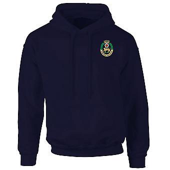 O York e Lancaster Regimento logotipo bordado - oficial de exército britânico Hoodie