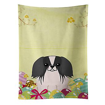 Carolines Treasures  BB6105KTWL Easter Eggs Pekingnese Black White Kitchen Towel