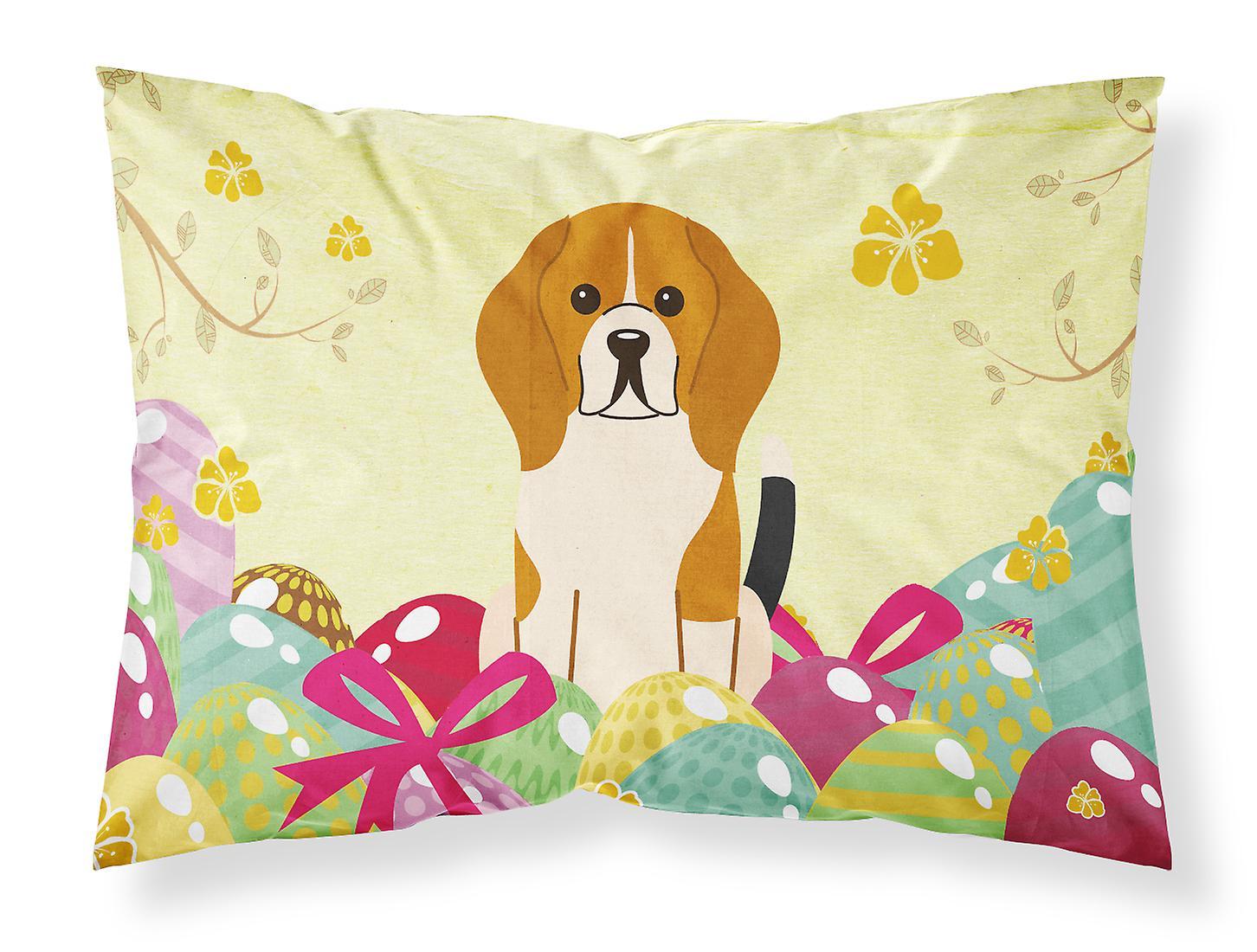 Tissu beagle Taie Standard oeufs D'oreiller Pâques Du Tricolore OXTwkuZPi