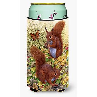 Carolines Treasures  ASA2133TBC Red Squirrels Tall Boy Beverage Insulator Hugger