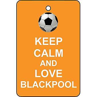 Keep Calm And Love Blackpool Car Air Freshener
