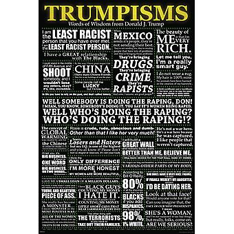 Trumpisms Poster Poster Print