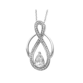 Tears of Strength Pendant Necklace in Sterling Silver with Chain