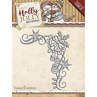 Trouvez-la Trading Yvonne créations Holly Jolly Die-Noël décoration YCD10072