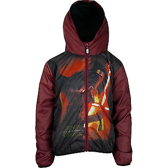 Boys DHQ1156 Star Wars Lightweight Hooded Jacket with Bag