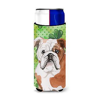 English Bulldog St. Patrick's Michelob Ultra Hugger for slim cans