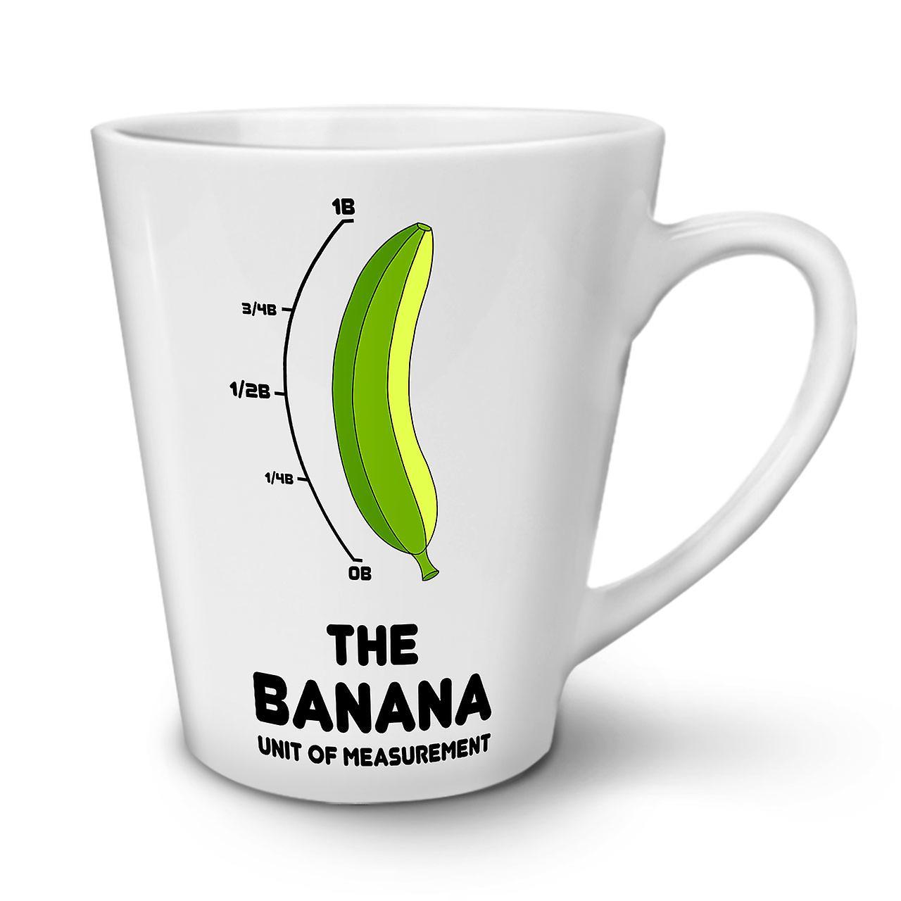12 OzWellcoda Blanche Latte Échelle Pour En Céramique Tasse Nouvelle Banane Café rxdeoBWC