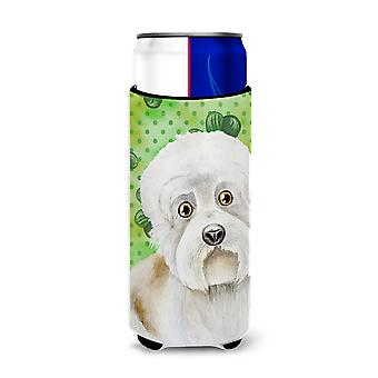 Dandie Dinmont Shamrocks Michelob Ultra Hugger for slim cans