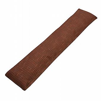 Caraselle British Made Luxury Draught Excluder in Mid Brown & Rust