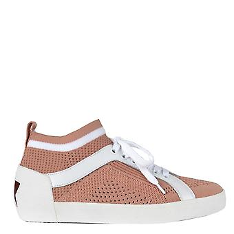 Ash Footwear Nolita Powder & White Knit Trainer
