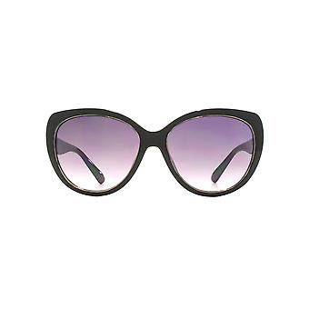 French Connection Glamourous Cateye Sunglasses In Black On Milky Grey