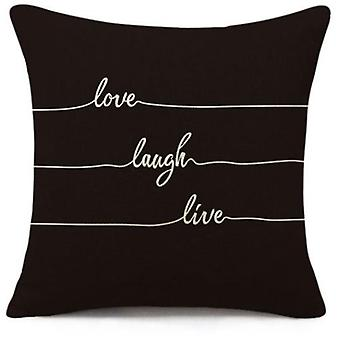 Wellindal Kissenbezug Laugh 45X45-Black And White