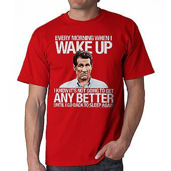 Gift med børn vågner bedre mænds rød T-shirt