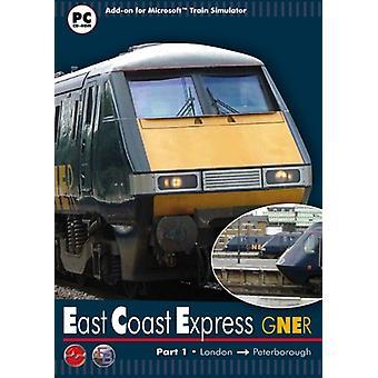 Gner østkysten udtrykkelig del 1 London til Peterborough - tilføjelsesprogram til MS Train Simulator (PC CD)