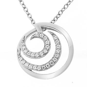Orphelia Silver 925 Chain With Pendant Round Zirconium  ZH-7084