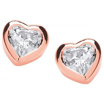 Cavendish French Cubic Zirconia Solitaire Earrings - Rose Gold