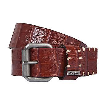 OTTO KERN belts men's belts leather belt brown/chocolate 2191