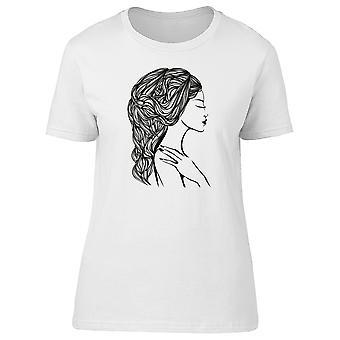 Wavy Long Curvy Hair Tee Women's -Image by Shutterstock