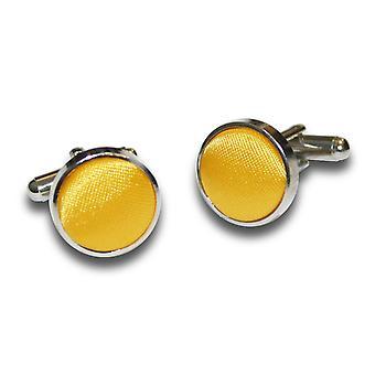 Marigold Plain Satin Cufflinks