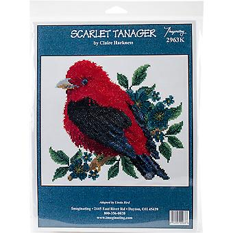 Scarlet Tanager Counted Cross Stitch Kit-8