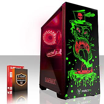 Feroce GOBBLER Gaming PC, veloce processore Intel Core i5 7400 3,5 GHz, 2 TB SSHD, 16 GB di RAM, GTX 1050 2 GB
