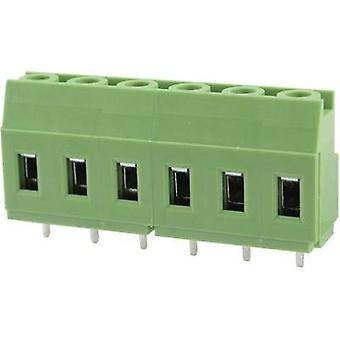 Degson DG129-7.62-03P-14-00AH Screw terminal 3.31 mm² Number of pins 3 Green 1 pc(s)