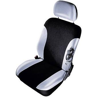 cartrend 79-5320-03 Mystery Seat covers 11-piece Polyester Gun grey, Black Driver's seat, Passenger seat, Back seat