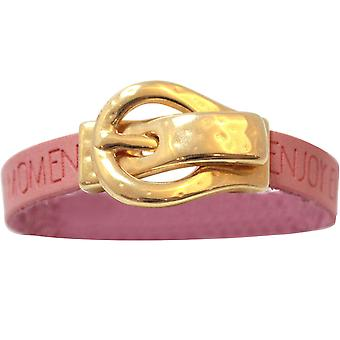 Gemshine - Damen - Armband - WISHES - Rosa - Pink - Gürtel - Schnalle - Magnetverschluss