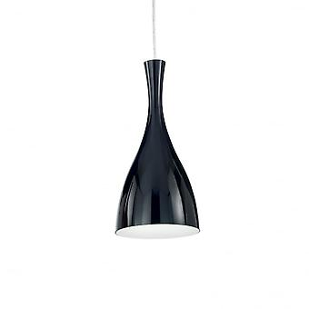 Ideal Lux Olimpia Single Pendant Light Black