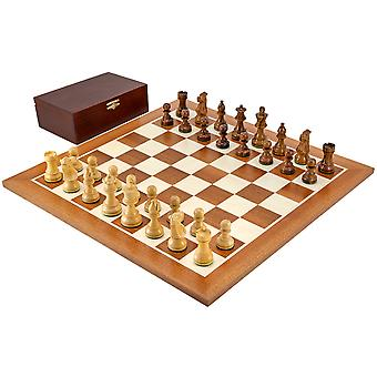 French Knight Sheesham Mahogany Chess Set