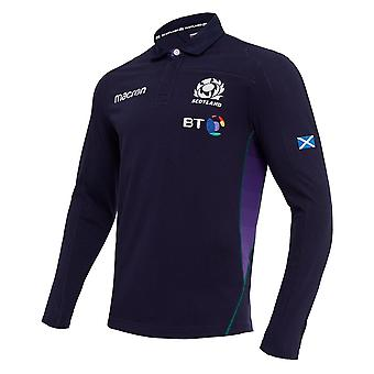 2018-2019 Scotland Home LS Cotton Rugby Shirt