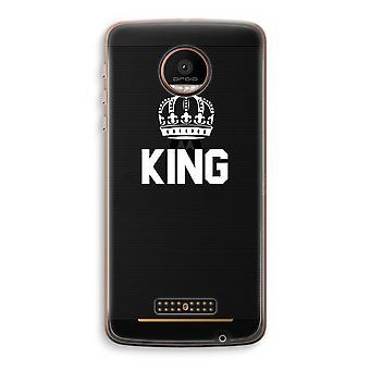 Motorola Moto Z Force Transparent Case (Soft) - King black