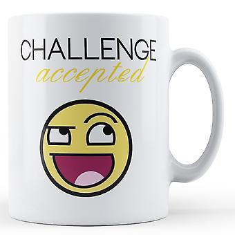 Défi de l'écriture décorative accepté - Mug imprimé