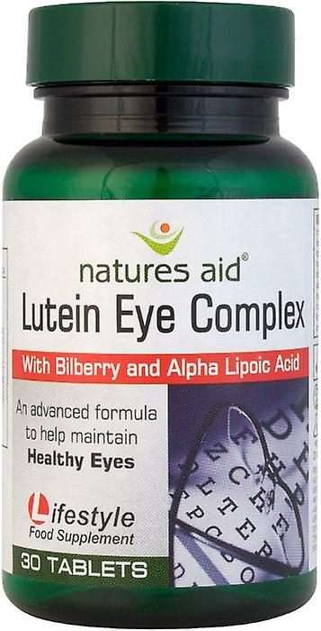 Natures Aid NEW & IMPROVED Lutein Eye Complex with Bilberry, 30 tabs