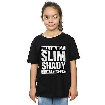 エミネムの女の子本当にスリムな怪しげな t シャツ