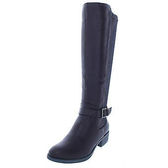 Style & Co. Womens Luciaa Faux Leather Knee-High Riding Boots