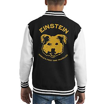 Einstein Time Traveller Back To The Future Kid's Varsity Jacket