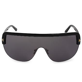 Tom Ford halb randlose Sonnenbrille Angus-02 FT0560 01A 00