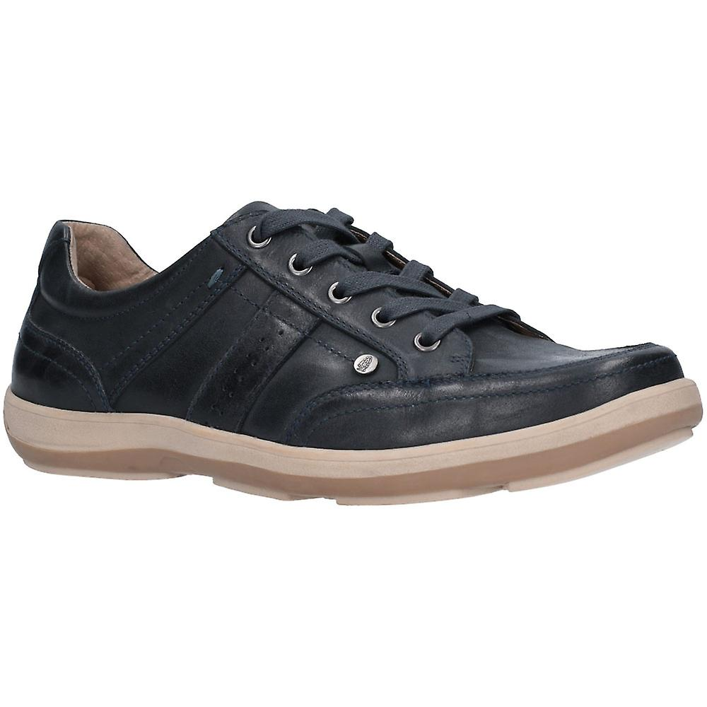 Hush Puppies Mens Vizla Lace Cushioned Leathers Trainers