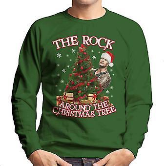 The Rock Around The Christmas Tree Men's Sweatshirt