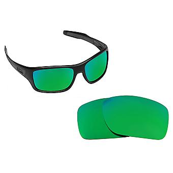 Best SEEK OPTICS Replacement Lenses for Oakley TURBINE Green Mirror