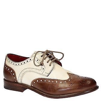 Chaussures de Broglie bufalo fait main en cuir derby bout d'aile