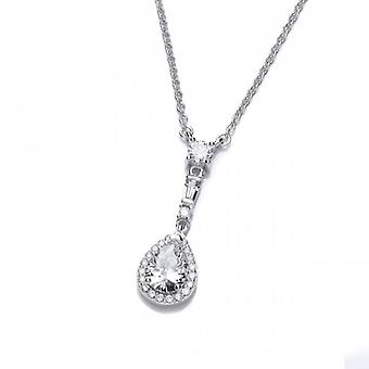 Cavendish Frans elegante Drop zilver en Cubic Zirconia ketting